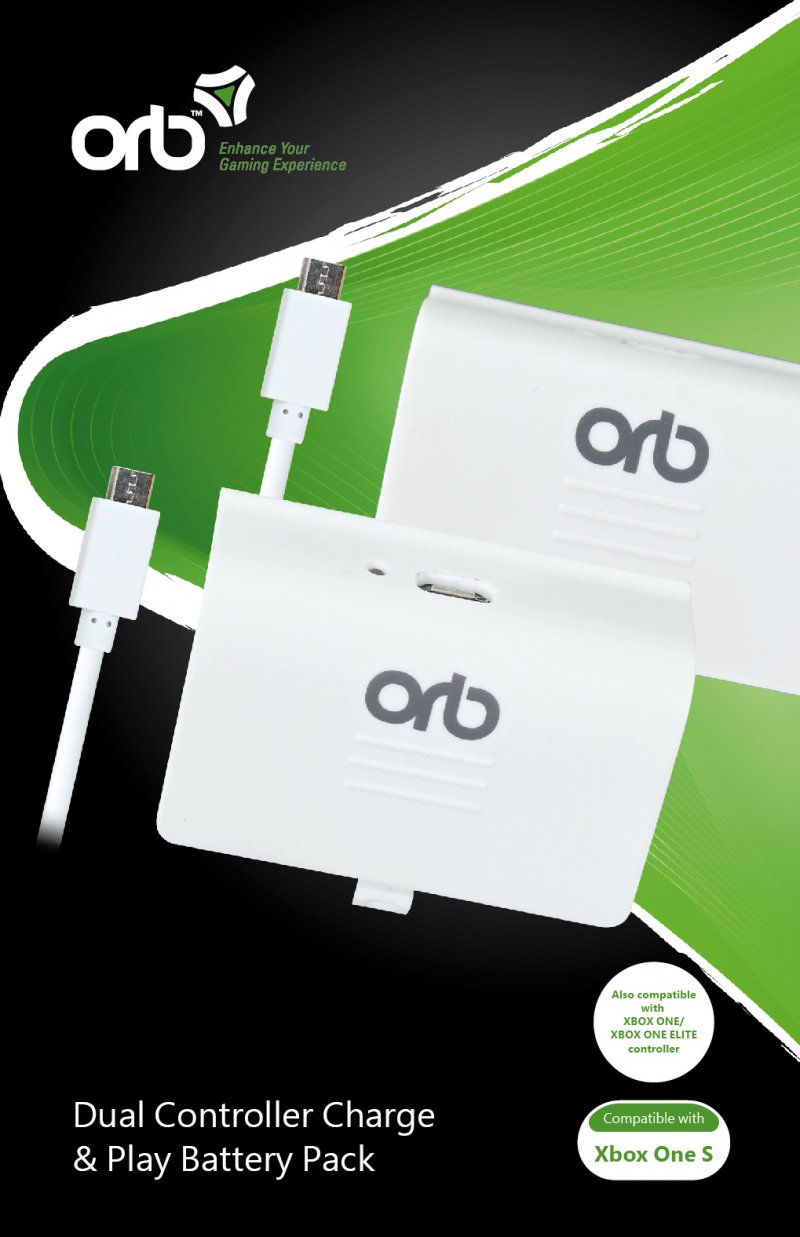 Image of   Xbox One S - Controller Batteripakke - Dual - Orb
