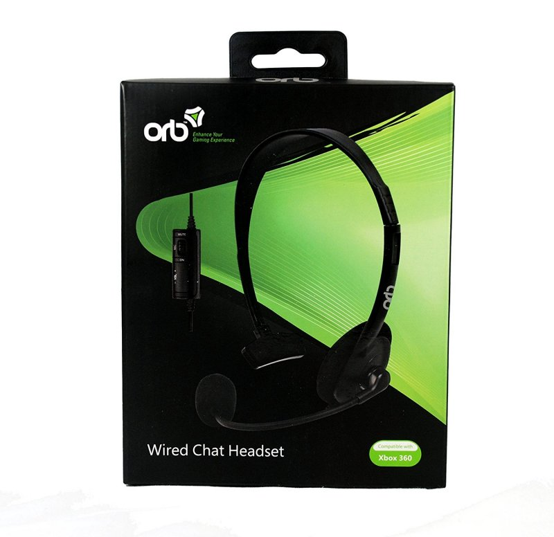 Orb Xbox 360 Wired Headset - Sort
