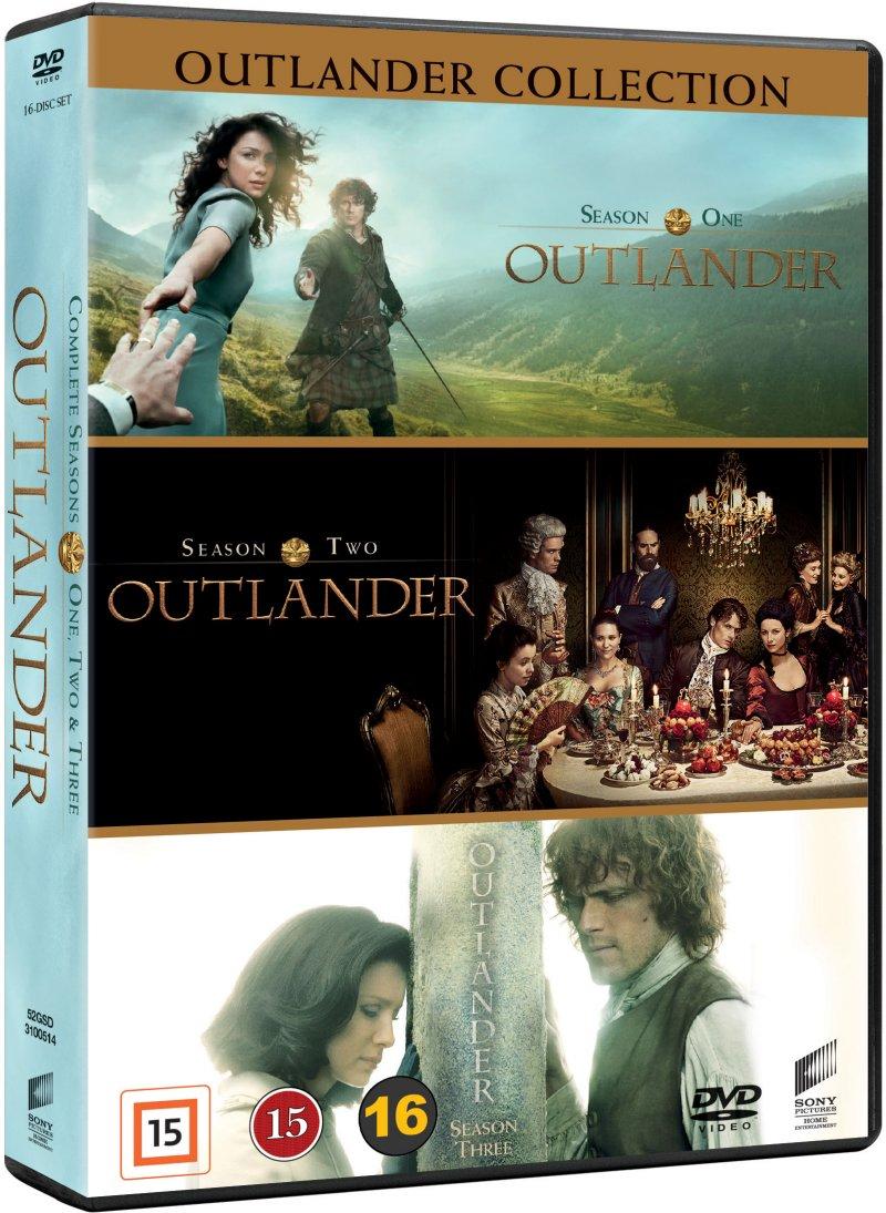 Outlander - Sæson 1-3 - Box Set - DVD - Tv-serie