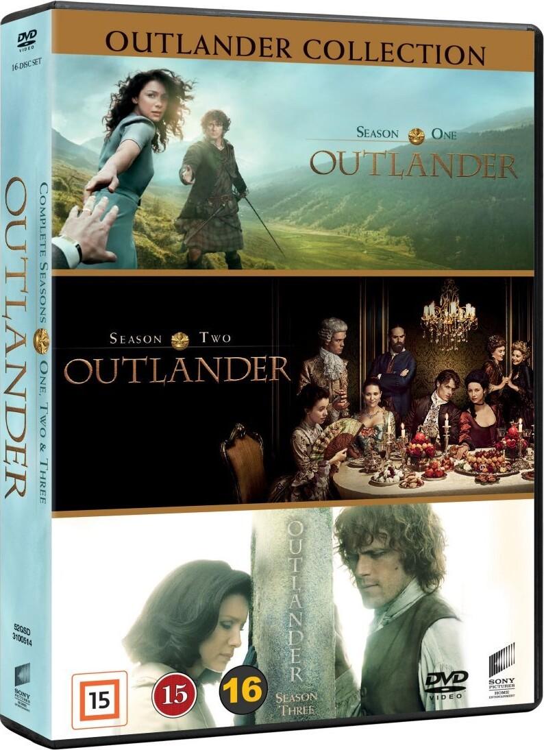 Outlander - Sæson 1-3 - DVD - Tv-serie