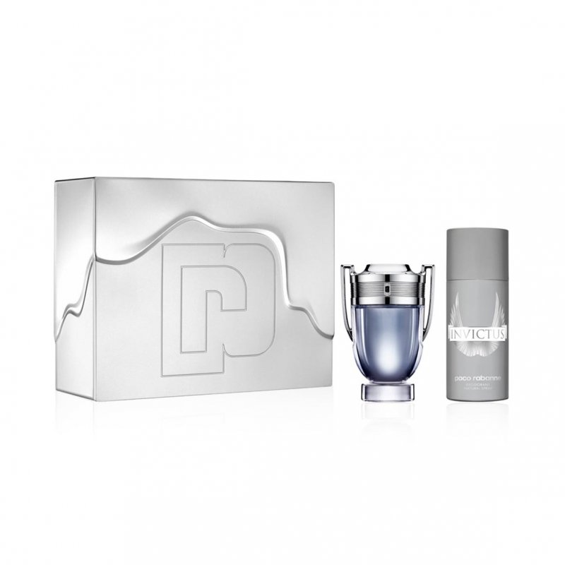 Image of   Paco Rabanne Gaveæske - Invictus Parfume Edt 100 Ml. Og Deodorant Spray 150 Ml.