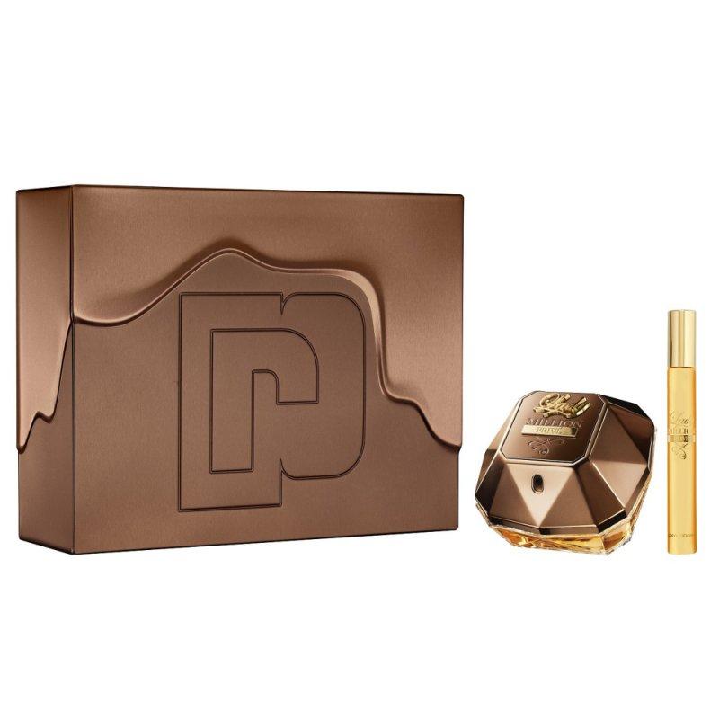 Image of   Paco Rabanne - Lady Million Prive Eau De Parfum 50 Ml + 10 Ml - Gavesæt