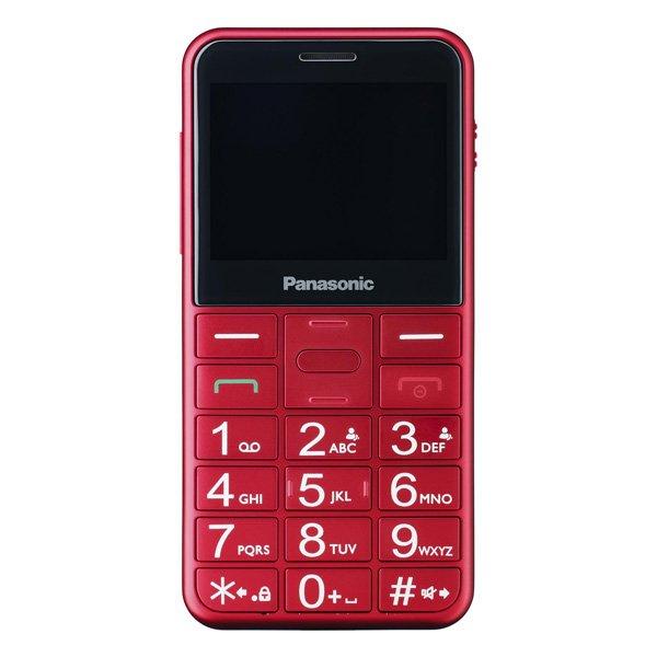 Image of   Panasonic - Mobiltelefon Til ældre - Dual Sim - Kx-tu150 - Rød