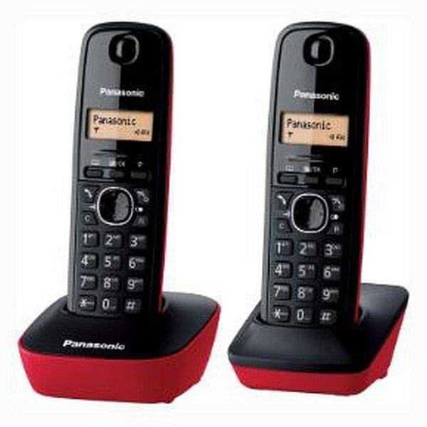 Image of   Panasonic - Trådløs Fastnet Telefon - 2 Stk - Duo - Sort