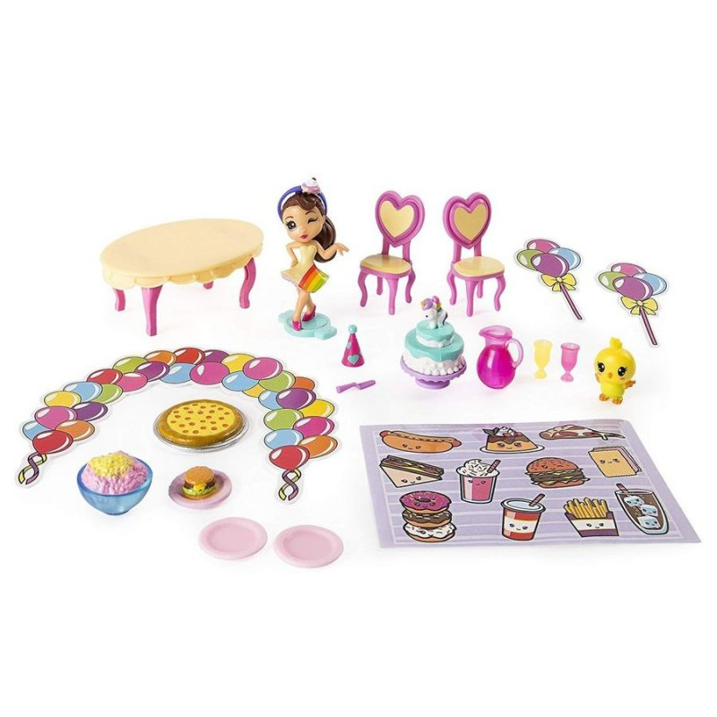 Image of   Party Popteenies - Party Surprise Box Legesæt - Ava Rainbow Unicorn Overraskelse