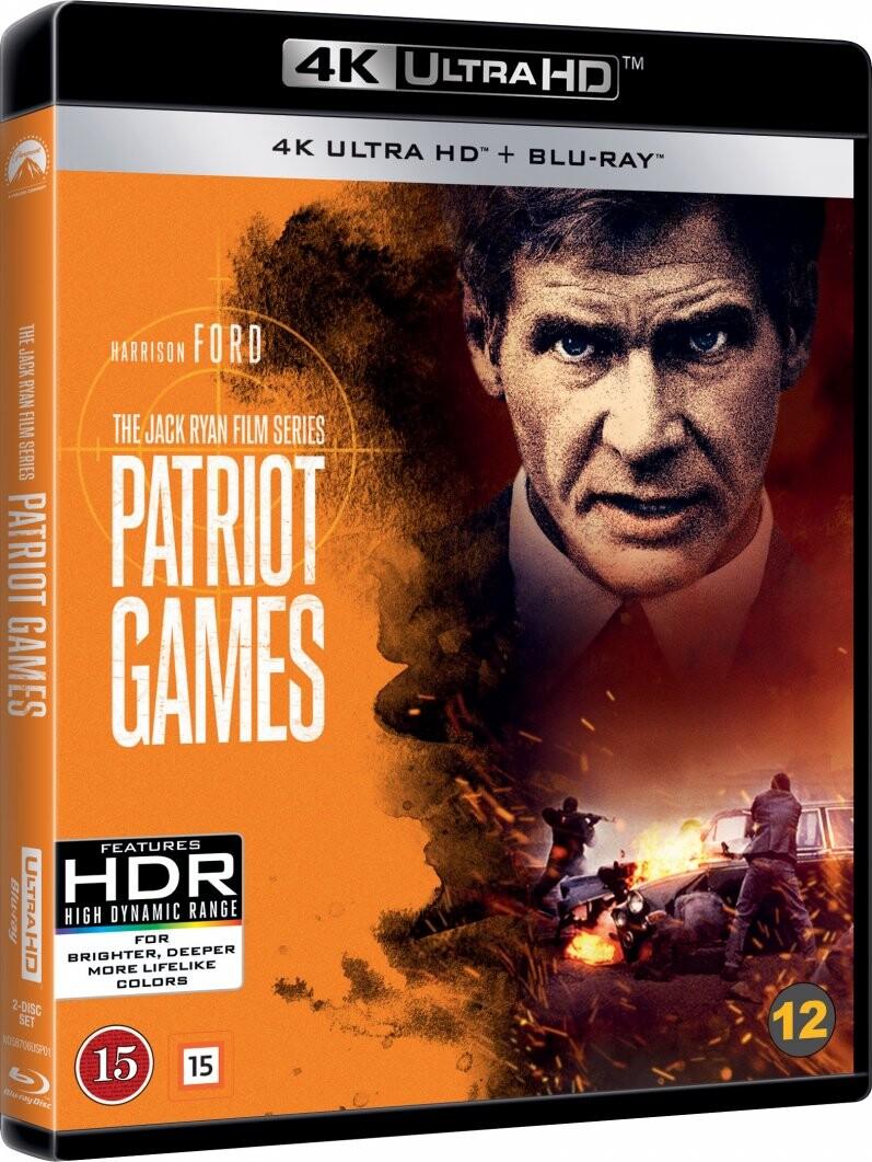 Image of   Patrioternes Spil / Patriot Games - 4K Blu-Ray