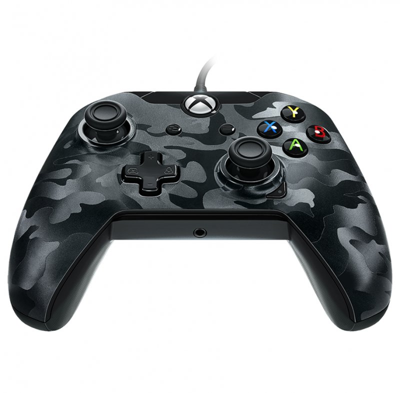 Image of   Pdp Deluxe Xbox One Controller Med Kabel - Sort Camouflage