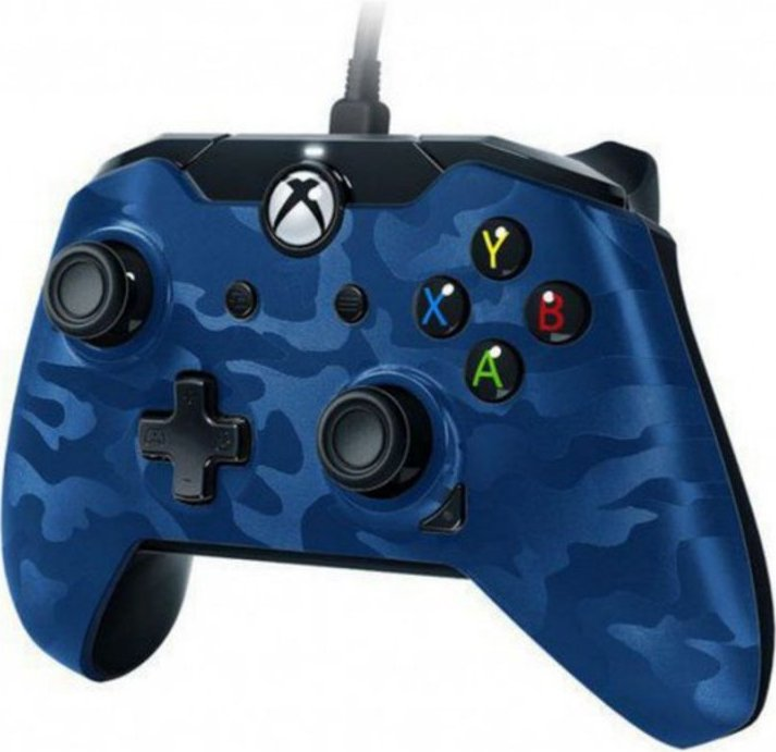 Image of   Pdp Deluxe Xbox One Controller Med Kabel - Blå Camouflage