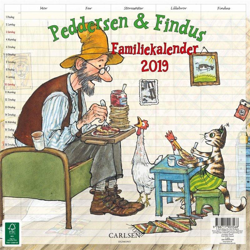 Image of   Peddersen Familiekalender 2019