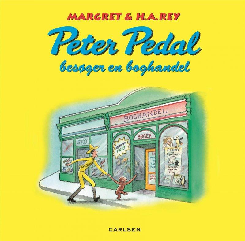 Image of   Peter Pedal Besøger En Boghandel - Margret Rey - Bog