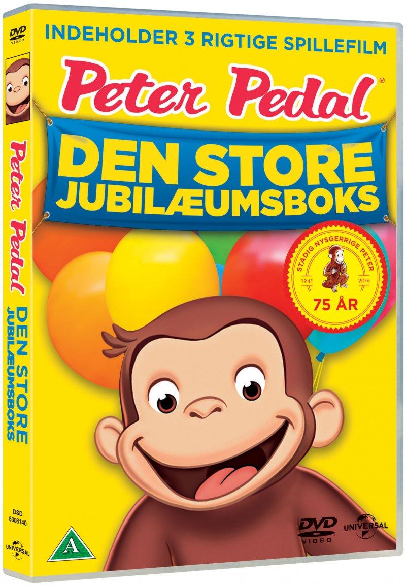 Billede af Peter Pedal / Curious George Boks 1-3 - Dansk - DVD - Film