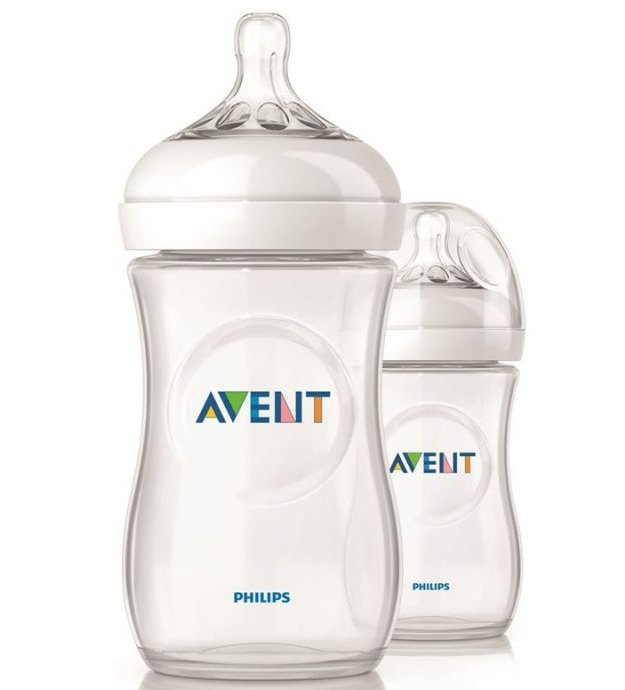 Image of   Philips Avent Sutteflaske - Natural - 2-pack