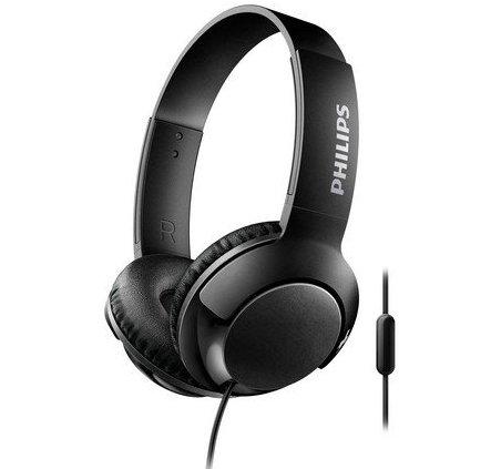 72b00d47062 Philips Bass+ On-ear Hovedtelefoner Med Mikrofon - Shl3075 - Sort ...