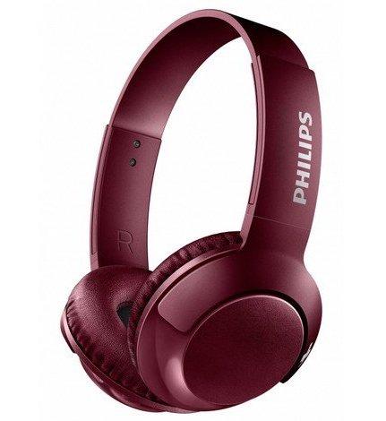 Billede af Philips Bass+ Shb-3075 - Trådløs Høretelefoner Med Bluetooth - Rød