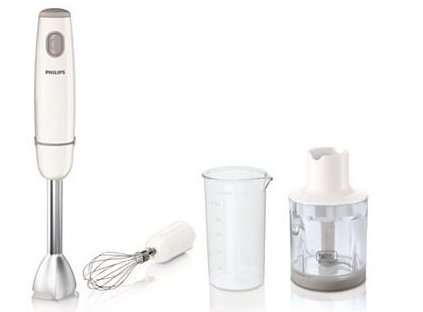 Image of   Philips Promix Stavblender - Daily Collection Hr1607/00 - Metal Hvid