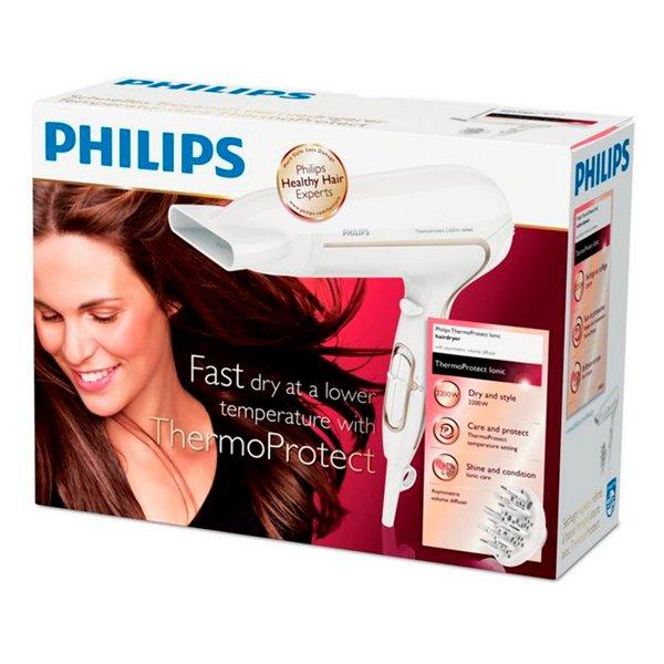 Image of   Philips Hårtørrer / Føntørrer - Thermoprotect Ionic - Hp8232 - 2200w - Hvid