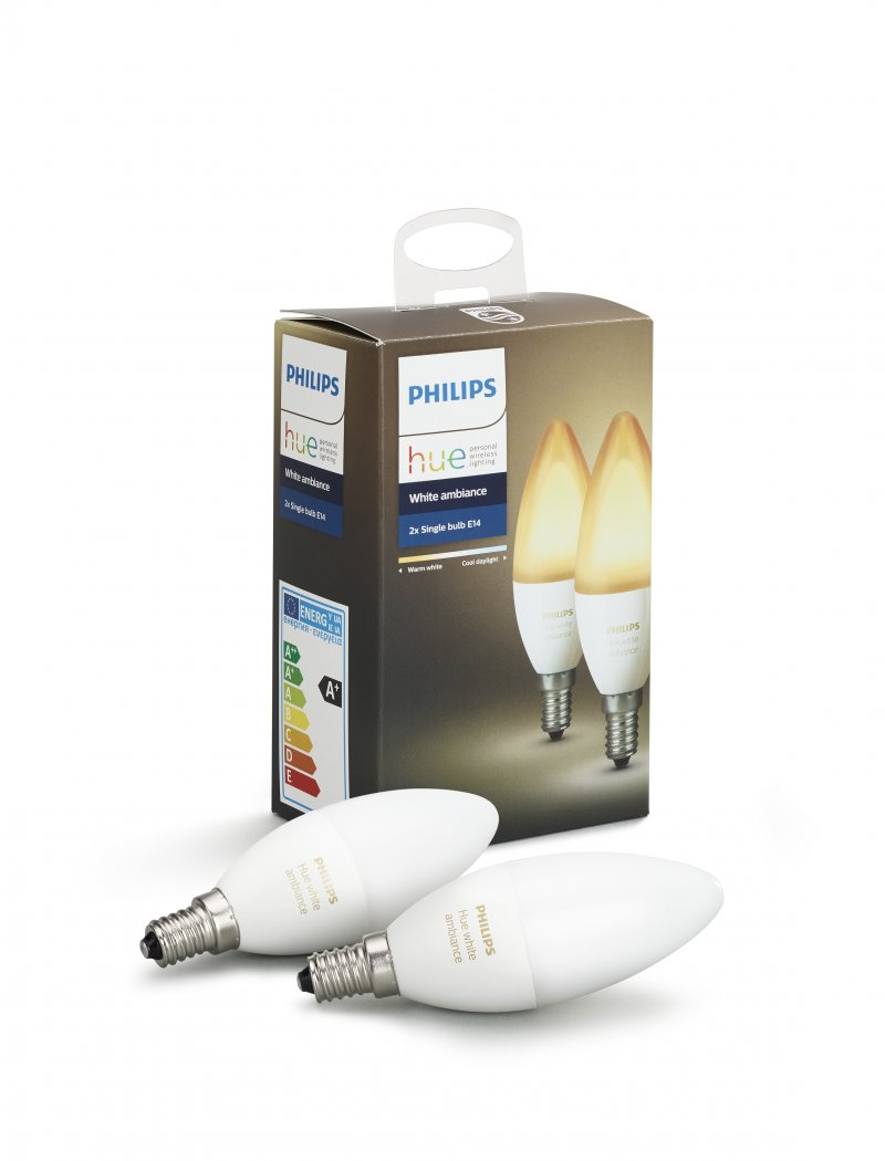 Image of   Philips Hue - White Ambiance - E14 Pære 2-pak