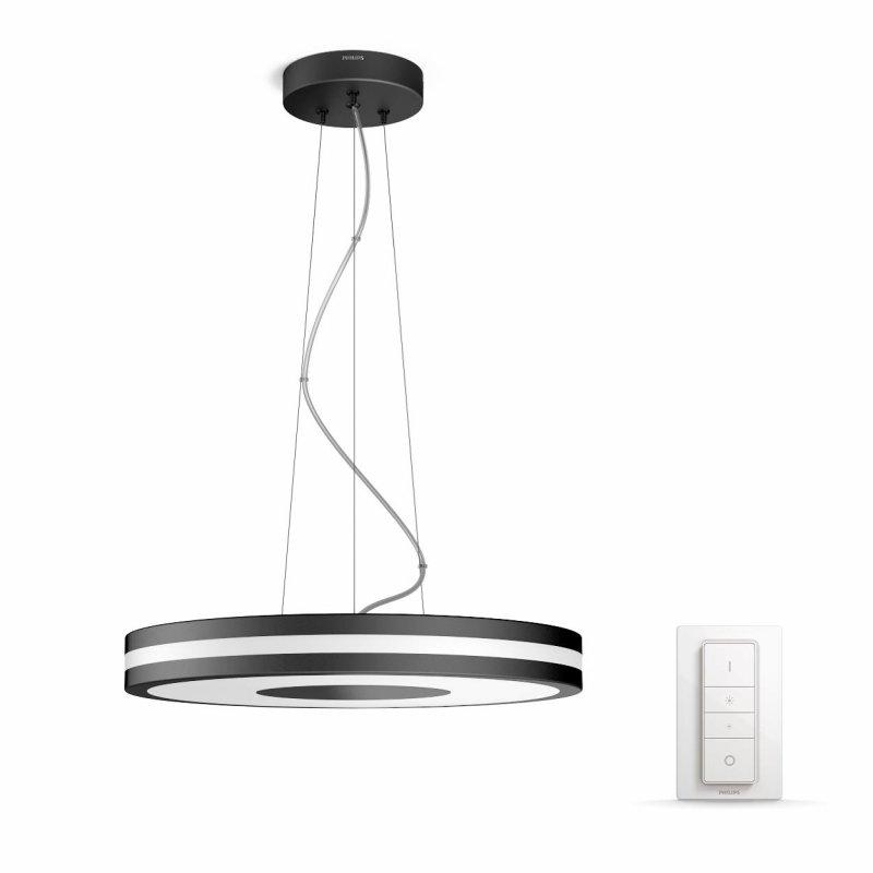 Image of   Philips Hue - White Ambiance - Pendel Loftlampe - Being - Sort Inkl. Lysdæmper