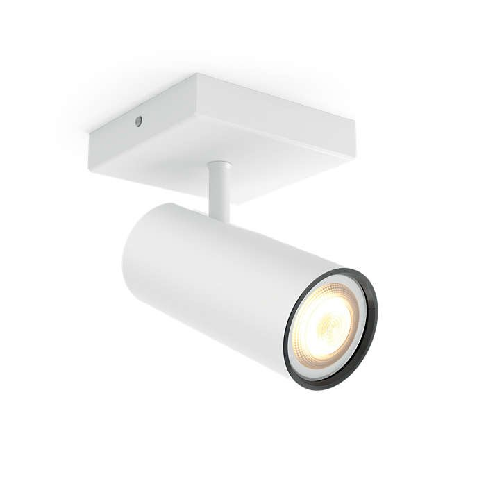 Image of   Philips Hue - Buratto 1 Spotlys Uden Fjernbetjening - Hvid