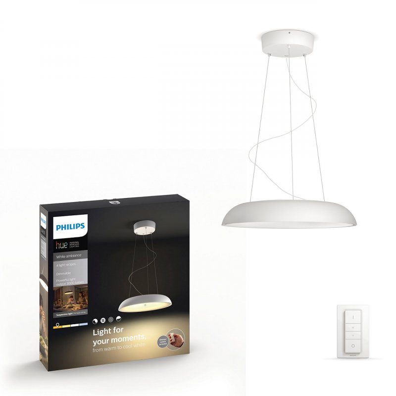 Image of   Philips Hue - White Ambiance - Connected Amaze Pendel Lampe - Hvid