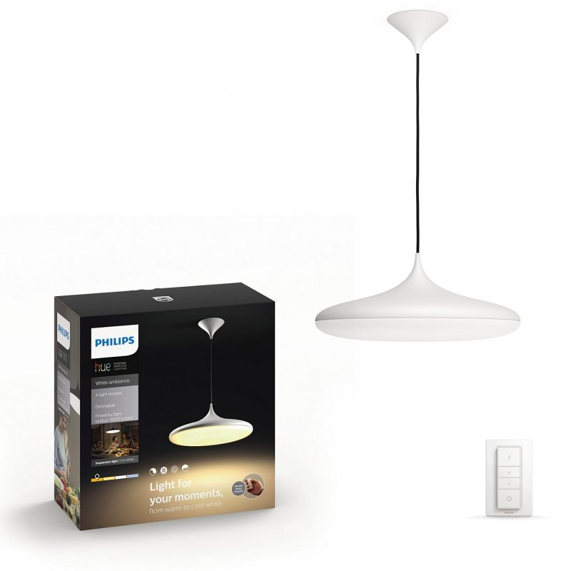 Image of   Philips Hue - White Ambiance - Pendel Loftlampe - Connected Cher - Hvid