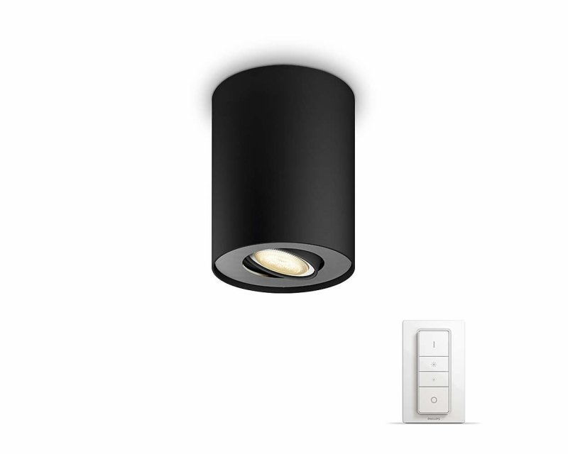 Image of   Philips Hue - Connected Pillar - Dæmpbar Led Spot Lys - Sort