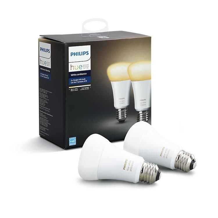 Image of   Philips Hue - White Ambiance - E27 Led Bluetooth Pærer - 2-pak