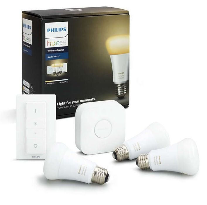 Image of   Philips Hue - White Ambiance - E27 Led Bluetooth Pærer - Starter Kit - 3-pak