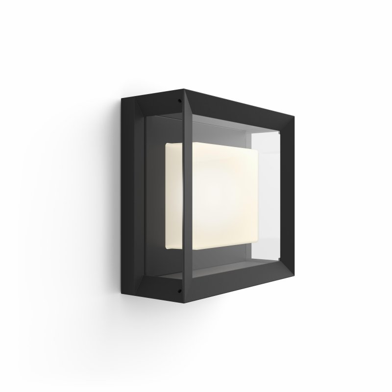 Image of   Philips Hue - White And Color Ambiance - Econic Square Væglanterne - Sort