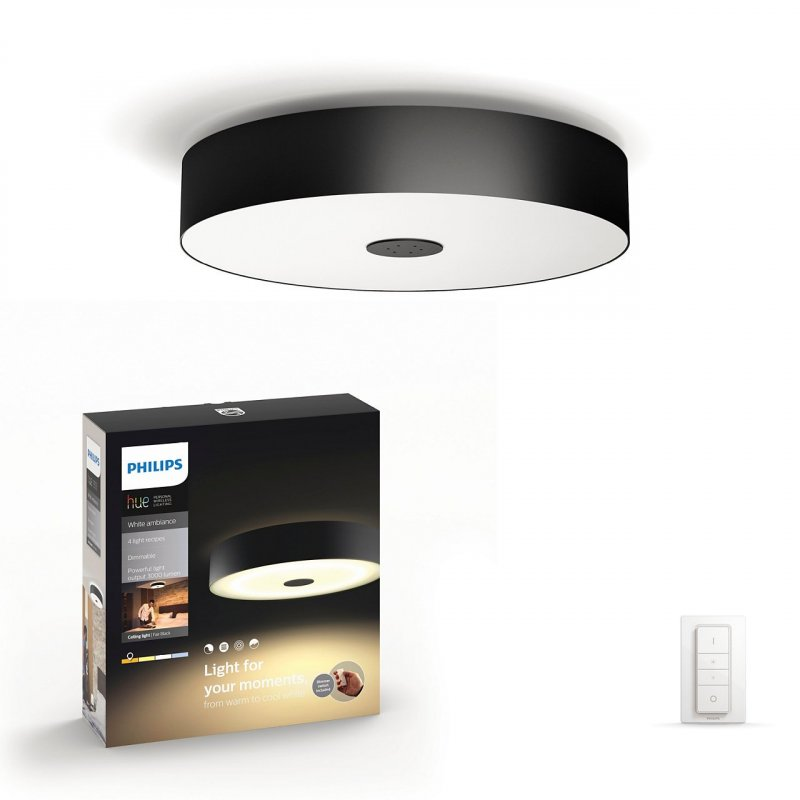 Image of   Philips Hue - Fair Led Loftslampe Inkl. Lysdæmper Fjernbetjening - Sort