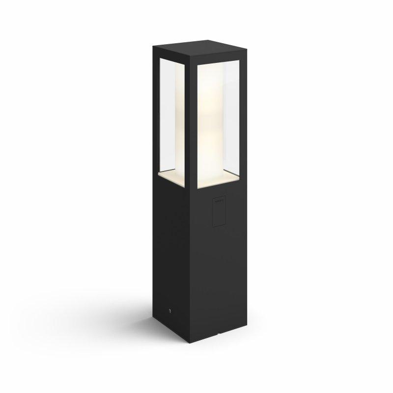 Image of   Philips Hue - White And Color Ambiance - Impress Pedestal Udendørslampe - Sort