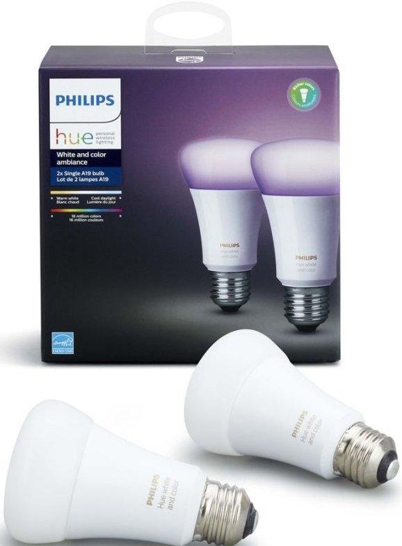 f2112e98a4f Philips Hue - White And Color Ambiance - E27 Pære 2-pak