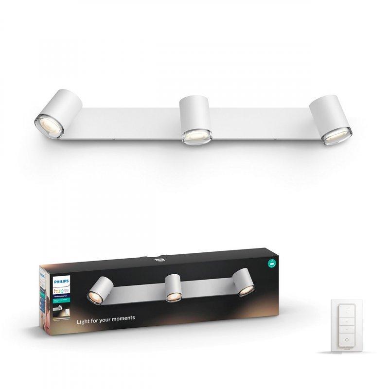 Image of   Philips Hue - White Ambiance - Adore 3 Spotlys Til Badeværelse