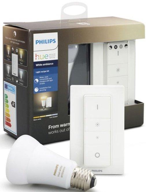 885948ec508 Philips Hue - White Ambiance Light Recipe Kit - E27 Led Pære - Hvid Inkl.  Fjernbetjening