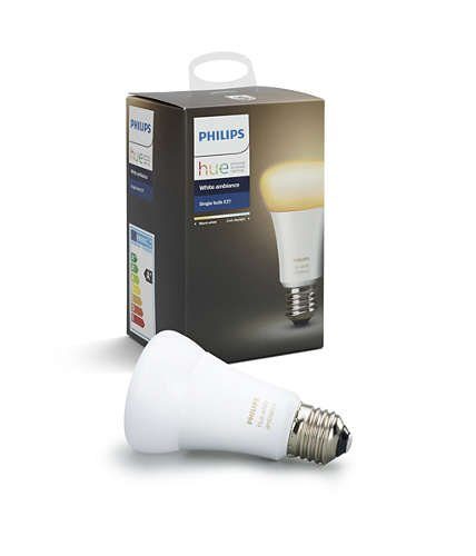 Image of   Philips Hue Pære E27 - White Ambience