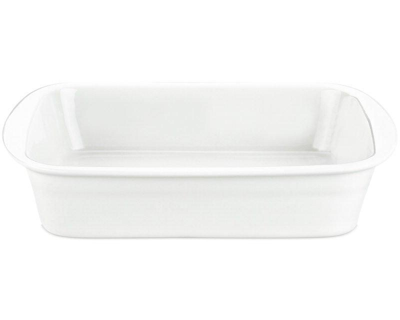Image of   Pillivuyt Lasagnefad Medium I Hvid - 34x25 Cm.