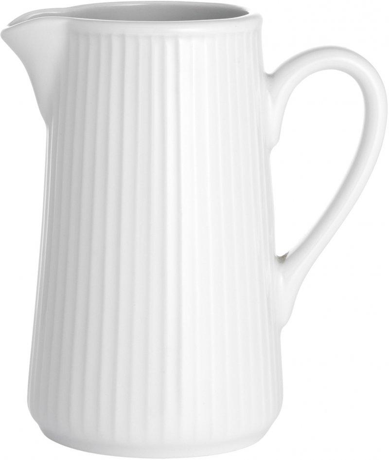 Image of   Pillivuyt - Plissé Porcelæn Kande - Hvid - 35 Cl