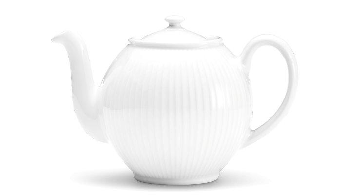 Image of   Pillivuyt Plissé Tekande I Hvid - 1,5 Liter
