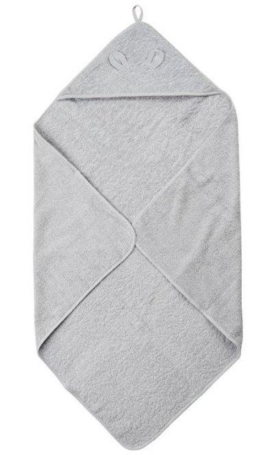 Pippi økologisk Babyhåndklæde - Grå