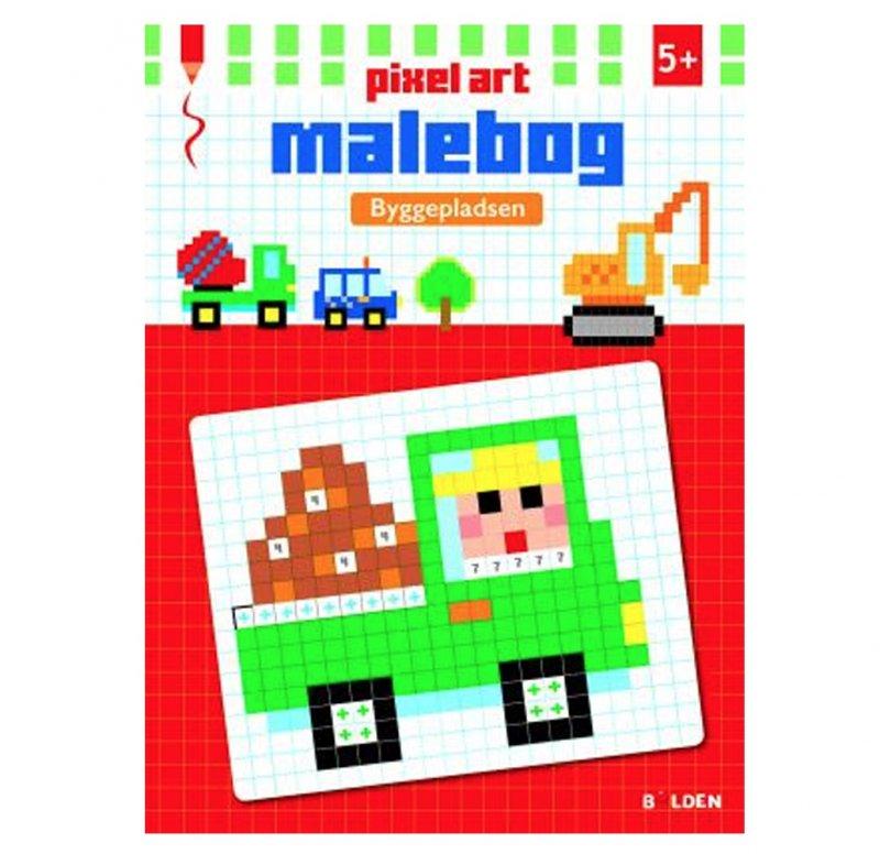 pixel, malebog, firkanter, kreativ, stress-af
