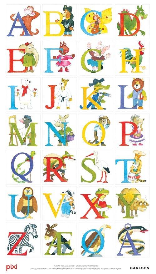 Billede af Abc / Alfabet Plakat