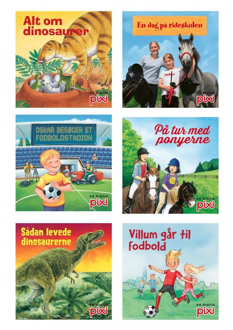 Image of   Pixi-serie 129 Fakta (heste, Fodbold, Dinosaurer) - Diverse - Bog
