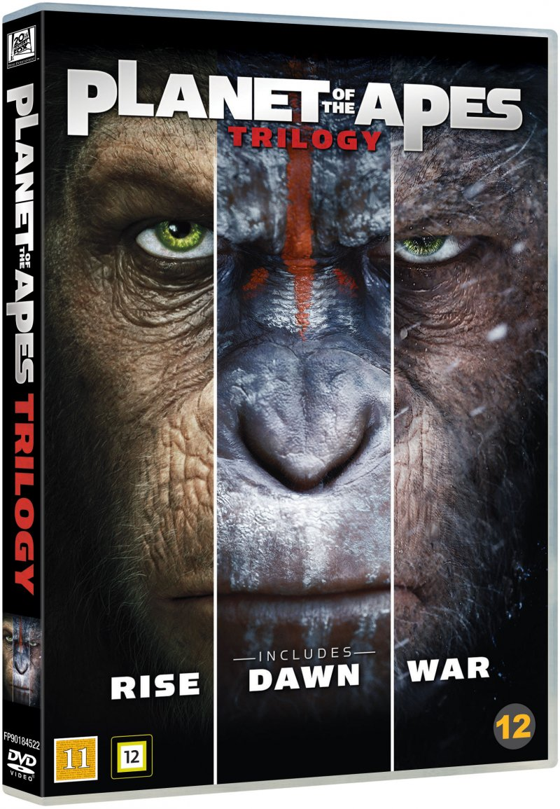 Image of   Abernes Planet / Planet Of The Apes - Trilogy - DVD - Film
