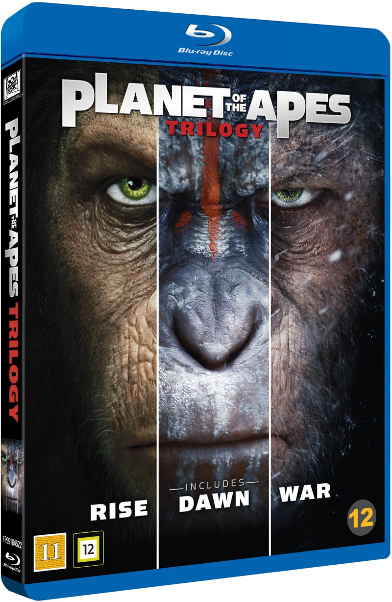 Image of   Abernes Planet / Planet Of The Apes - Trilogy - Blu-Ray