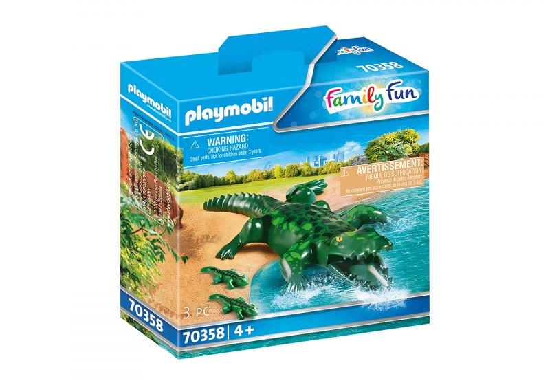 Playmobil Family Fun - Alligator Med Baby - 70358