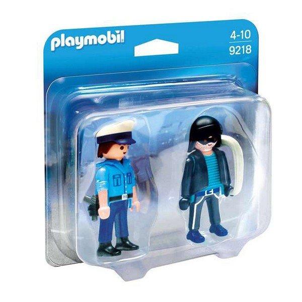 Playmobil Figurer - Politimand Og Indbrudstyv - 9218