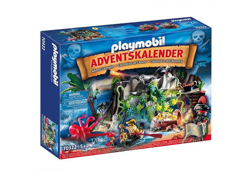 Playmobil Julekalender - Skattejagt I Piratbugten - 70322