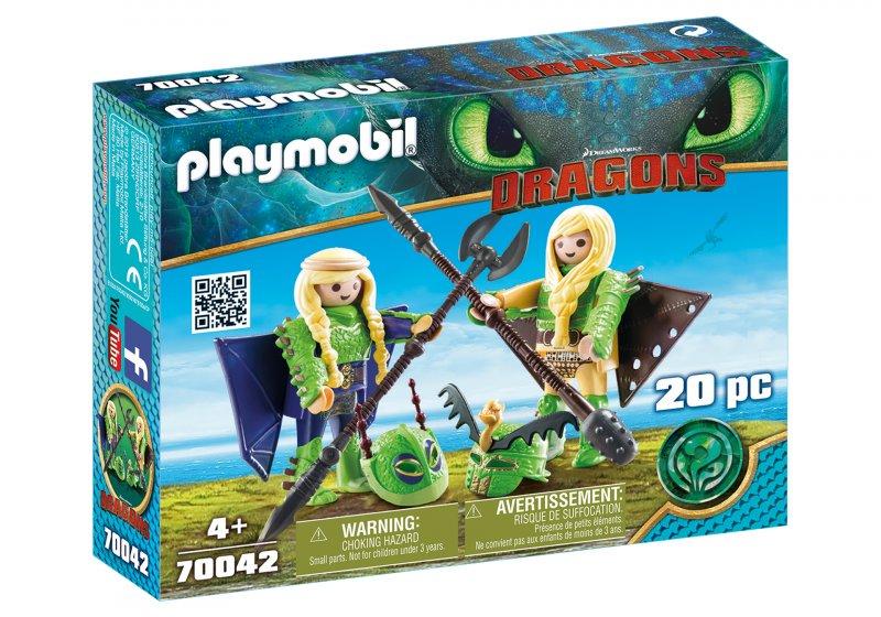 Playmobil - Stenknold Og Benknold I Flyveuniform - 70042