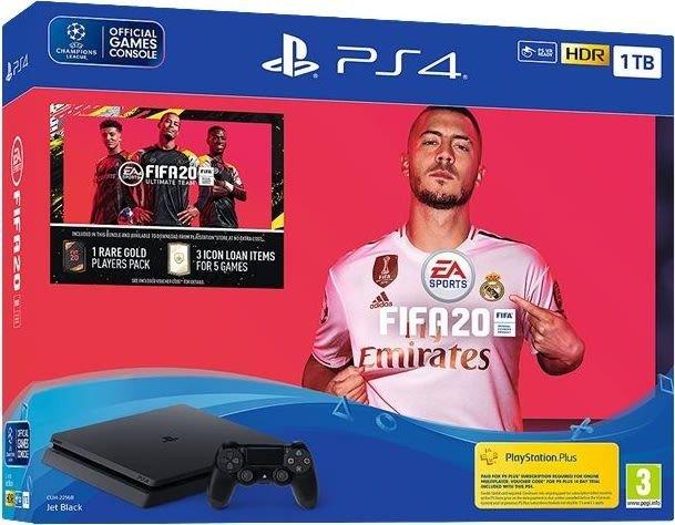Image of   Playstation 4 Slim - 1tb Inkl. Fifa 20 Og Headset - Jet Black