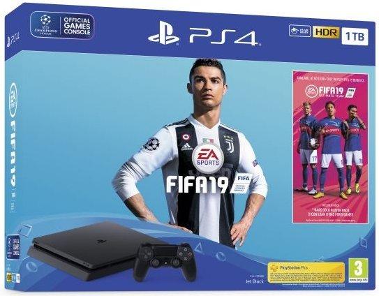 Image of   Playstation 4 500gb + Fifa 19 Pakke